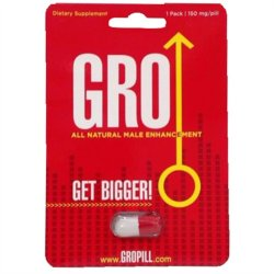 Gro All Natural Male Enhancement Pill - 1 Pack image.