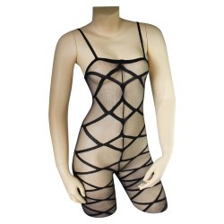Lovelife: Crotchless Strapped Up Bodystocking - O/S Sex Toy