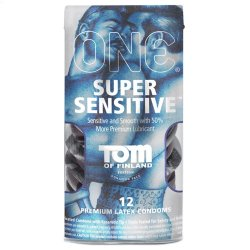 One: Tom of Finland Super Sensitive Condoms - 12 Pack Sex Toy
