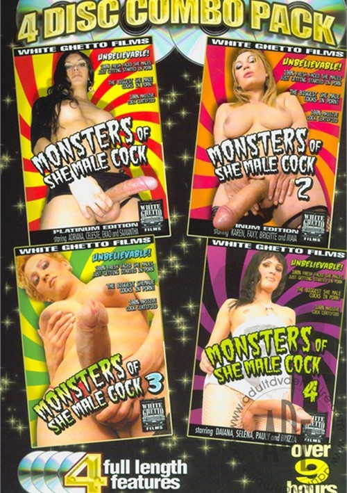 Monsters Of She-Male Cock (4-Pack) White Ghetto Fetish 2007