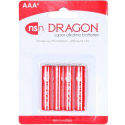 Dragon Alkaline Batteries - AAA - 4 pack Sex Toy