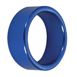 TitanMen: Metal Cock Ring Xtra Thick - Size: 40 mm - Blue  Sex Toy