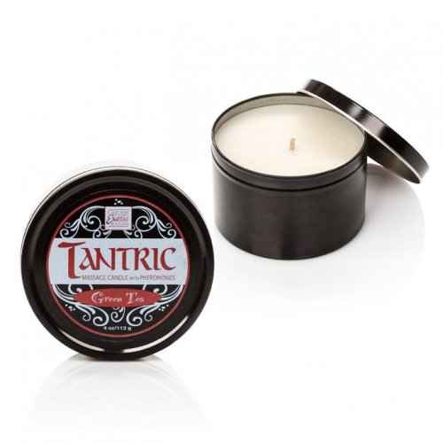 Tantric Soy Candle With Pheromones - Green Tea Image