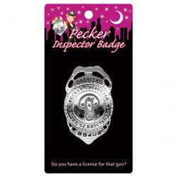 Pecker Inspector Badge Sex Toy