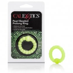 Prolong Pearl Beaded Cock Ring - Green Sex Toy