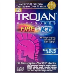 Trojan Fire & Ice Lubricated - 10 Pack Sex Toy
