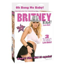 Britney Bitch Love Doll with 3 Toxic Love Holes Sex Toy