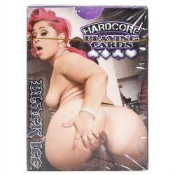 Black Ice Hardcore Playing Cards Sex Toy