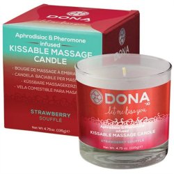 Dona Kissable Massage Candle - Strawberry Souffle - 4.75oz. Sex Toy