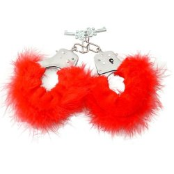 Fetish Fantasy Feather Love Cuffs - Red Sex Toy