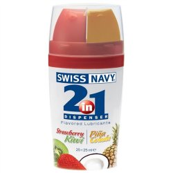 Swiss Navy: 2 In 1 Flavored Lube Sex Toy