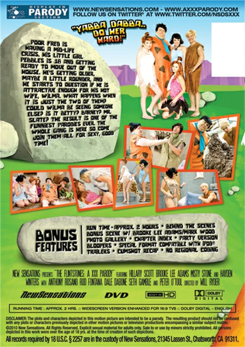 The Flintstones, XXX Parody, New Sensations Parodies, Will Ryder, Hillary Scott, Brooke Lee Adams, Misty Stone, Hayden Winters, Anthony Rosano, Rod Fontana, Dale Dabone, Seth Gamble, Peter O'Tool, Comedy, Cosplay, Feature, Parody