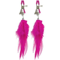 Fetish Fantasy Fancy Feather Nipple Clamps - Pink Sex Toy