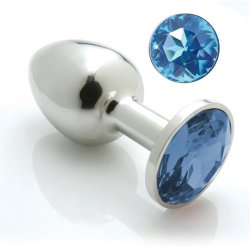 Pretty Plugs With Swarovski Crystals - Blue sex toy.