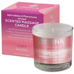 Dona Scented Massage Candle - Blushing Berry - 4.75oz. Sex Toy