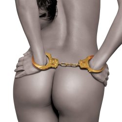 Fetish Fantasy Gold Metal Cuffs Sex Toy