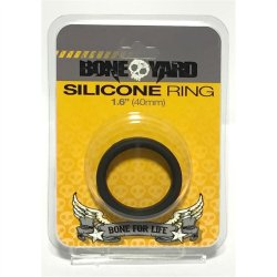 "Boneyard Silicone Ring - 1.6"" (40 mm) - Black Sex Toy"