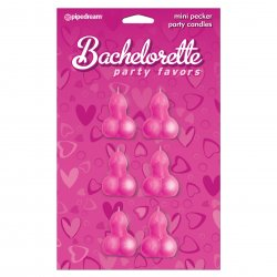 Bachelorette Party Favors Mini Pecker Party Candles - 6 piece Sex Toy