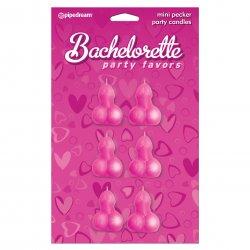 Bachelorette Party Favors Mini Pecker Party Candles - 6 piece Sex Toy