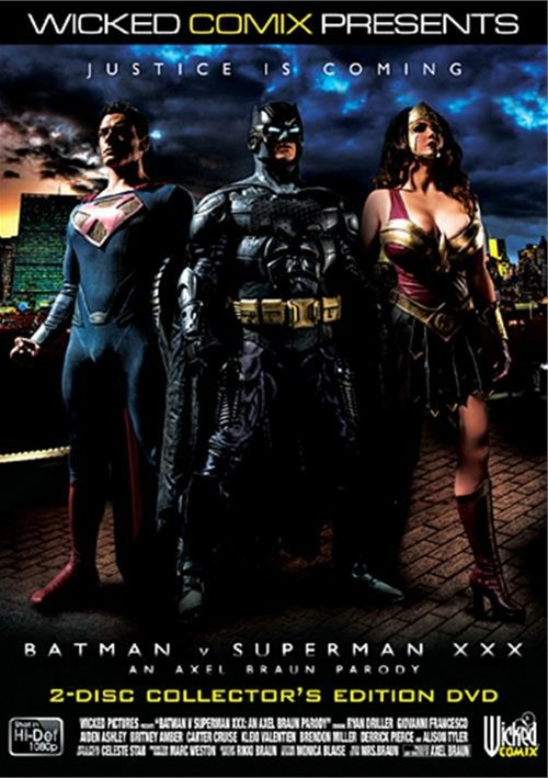 Batman V. Superman XXX: An Axel Braun Parody DVD Image from Wicked Pictures.
