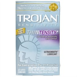 Trojan Thintensity Lubricated - 12 Pack Sex Toy