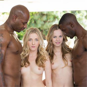 Pornstars Jillian Janson and Karla Kush star in Interracial Orgies.
