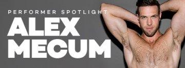 Watch gay porn videos starring Alex Mecum.