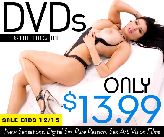 Save on porn DVDs from New Sensations starting at just $13.99.