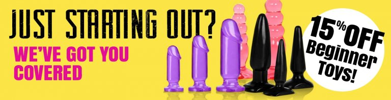 Browse Beginners Sex Toys and save 15%.