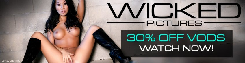 Save 30% on Wicked Pictures VOD porn videos starring Asa Akira and more.