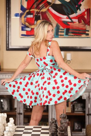 Jodi West Strips Off Cherry Dress Photo Sets Image