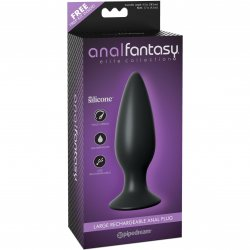 Anal Fantasy Elite Collection Large Rechargeable Anal Plug Sex Toy