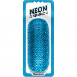 Neon EZ Grip Stroker - Blue Sex Toy