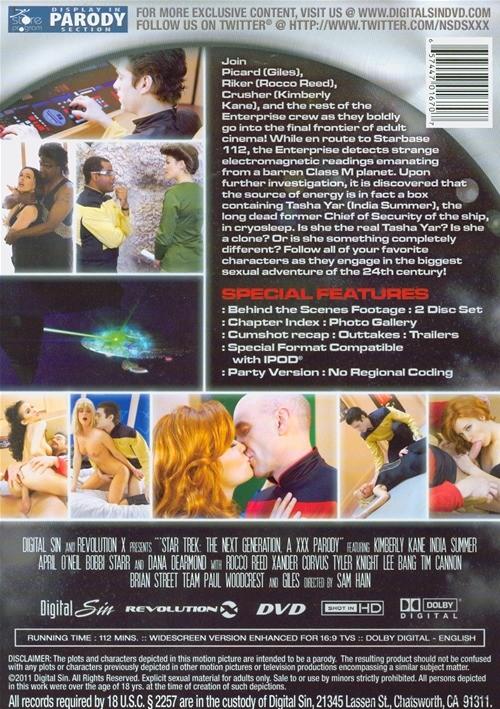 Back cover of Star Trek: The Next Generation - A XXX Parody