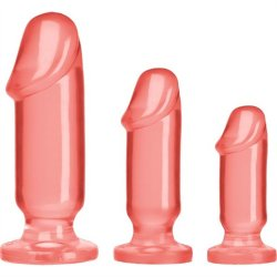 Crystal Jellies: Anal Starter Kit - Pink Sex Toy