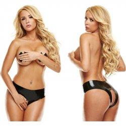 Latexwear: Premium Latex Crotchless Panty - Black - M/L Sex Toy