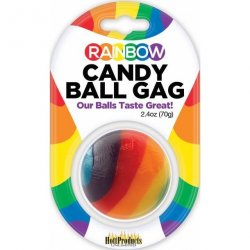 Rainbow Candy Ball Gag Sex Toy
