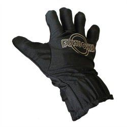 Fukuoku: 5 Finger Right Hand Massage Glove - Black Sex Toy