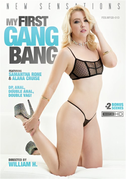 Samantha Rone stars in My First Gang Bang DVD porn movie.