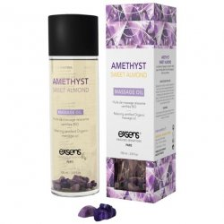 EXSENS of Paris Organic Massage Oil w/Stones - Amethyst Sweet Almond Sex Toy