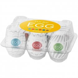 Tenga Easy Beat Egg New Standard Masturbator Six Pack Sex Toy