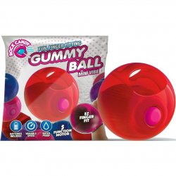 Rock Candy - Gummy Ball 5-function Mini Finger Vibe - Cinnamon Red Sex Toy