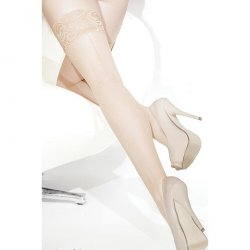 Coquette Thigh High Fishnet Stay Up Seam Stockings - Nude - O/S Sex Toy