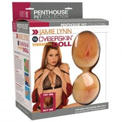 Jamie Lynn Cyberskin Vibrating Doll with Pussy & Ass Sex Toy