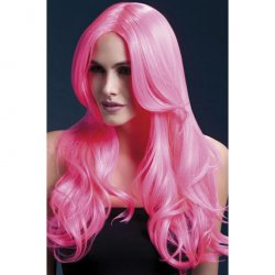 "Smiffy: The Fever Wig Collection Khloe 26"" Long Wave with Center Part - Pink Sex Toy"