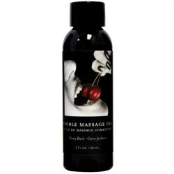 Earthly Body Edible Massage Oil - 2oz -  Cherry Sex Toy