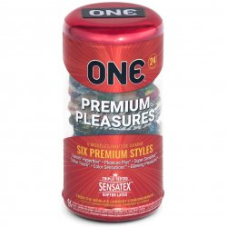 One: Premium Pleasures Condoms - 24-Pack Sex Toy