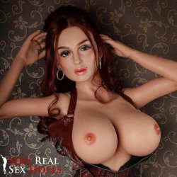 SRSD - 4ft 11' Lifelike Implanted Red Hair Silicone Love Doll Sex Toy