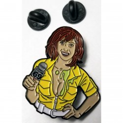 "Wood Rocket April O'Neil Soft Enamel Pin Inspired by ""Ten Inch Mutant Ninja Turtles""  Sex Toy"