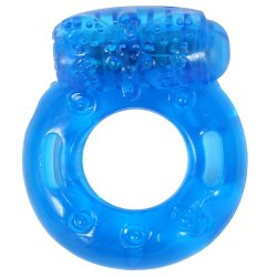 Stay Hard: Reusable Vibrating Cock Ring - Blue Sex Toy